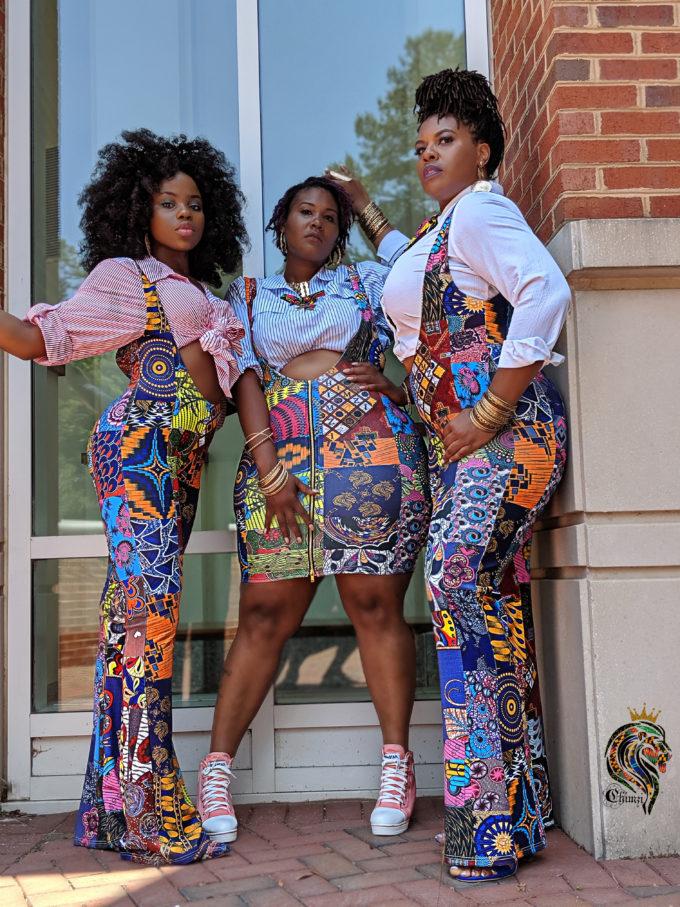 ABENA WOMEN'S STRETCHY AFRICAN PRINT DRESS (PATCH ANKARA SKIRT MULTIPATTERN DASHIKI ) 2