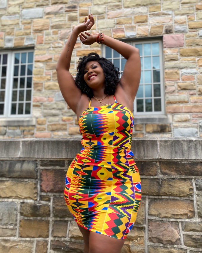 SHEBA TUBE DRESS (STRETCHY AFRICAN PRINT)