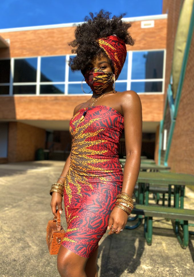 AYO TUBE DRESS (STRETCHY AFRICAN PRINT)