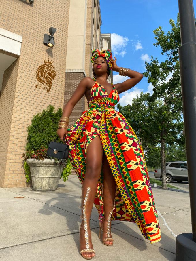 AKOSUA INFINITY DRESS WOMEN'S AFRICAN PRINT LONG