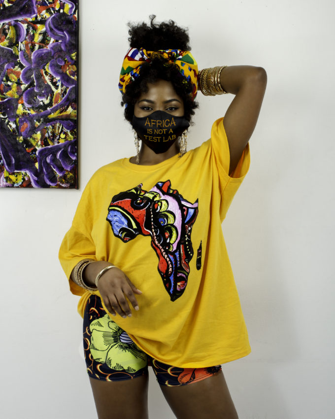 AKIA UNISEX AFRICA MAP SHIRT (YELLOW)