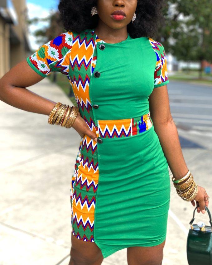 PRE-ORDER BOLANLE DRESS (GREEN)