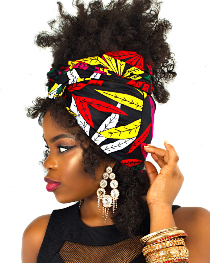 MARY JANE HEAD-WRAP AFRICAN PRINT