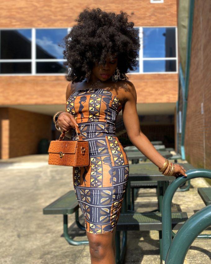 DENZEL TUBE DRESS (STRETCHY AFRICAN PRINT)