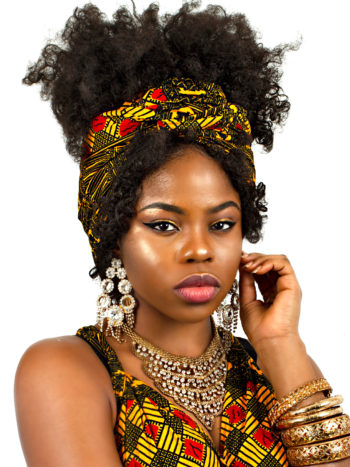 PRE-ORDER MONDAY HEAD-WRAP AFRICAN PRINT