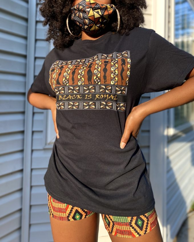 """MY BLACK IS ROYAL"" UNISEX T-SHIRT (BLACK)"