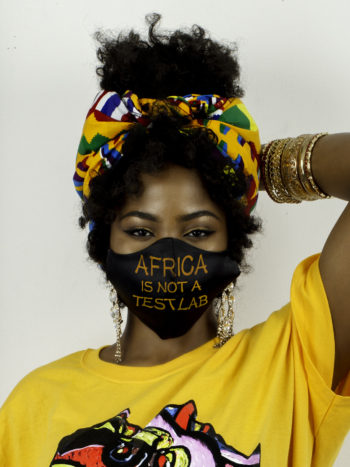AFRICA IS NOT A TEST LAB UNISEX FACE-MASK 1