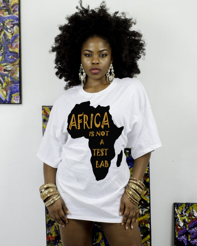AFRICA IS NOT A TEST LAB White-shirt