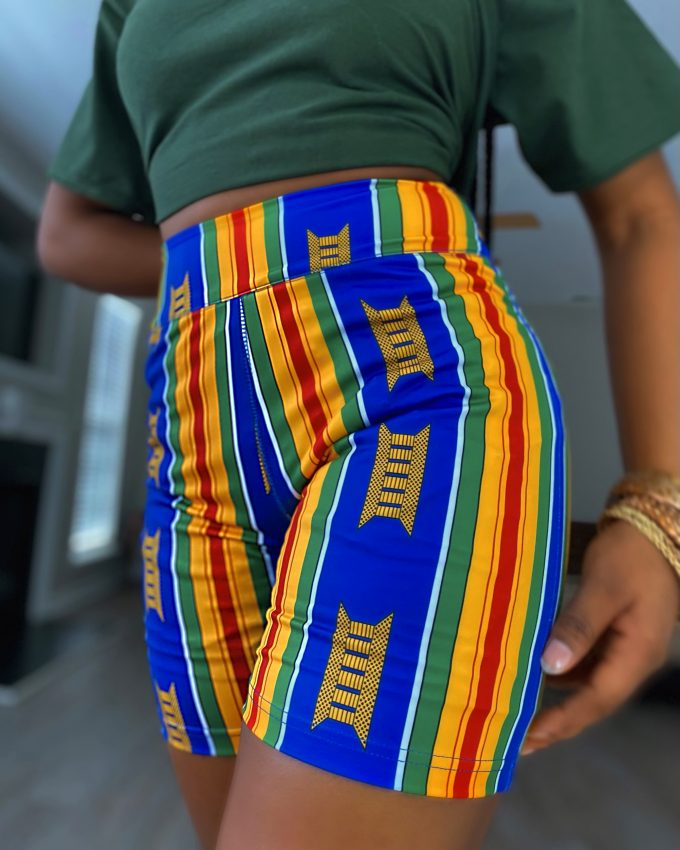 ABIONA SHORTS (STRETCHY AFRICAN PRINT)