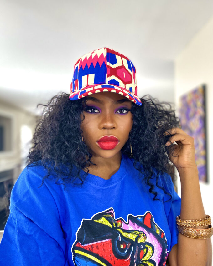 "ADJUA"" unisex african ankara baseball hat/cap"