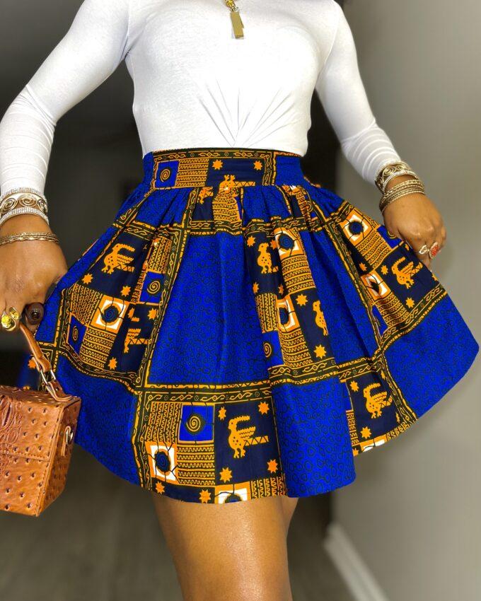 efe ankara kente dashiki African clothes fashion mini skirt