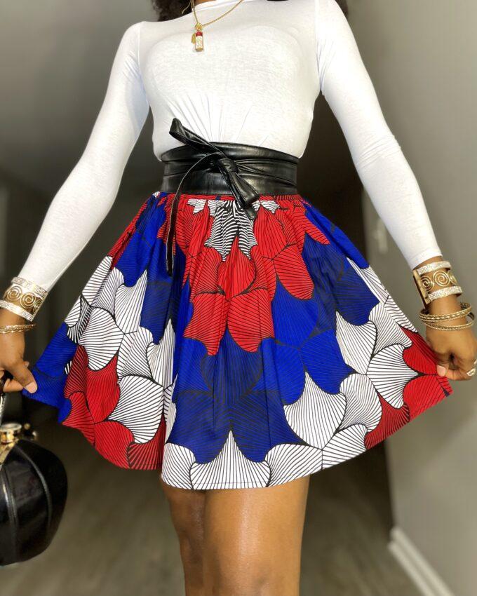Shop BINTA ankara kente dashiki African clothes fashion mini skirt