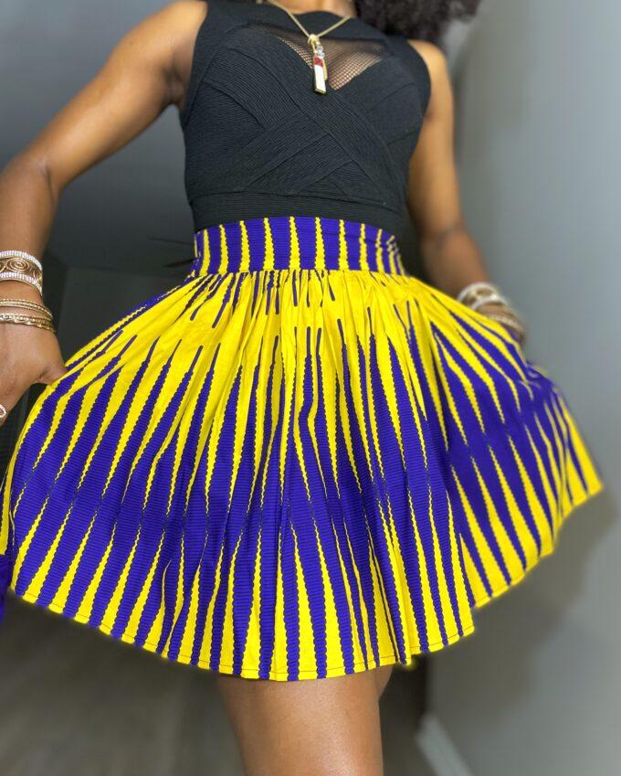 Shop nonso ankara kente dashiki African women ladies wears clothes fashion mini skirt with pocket