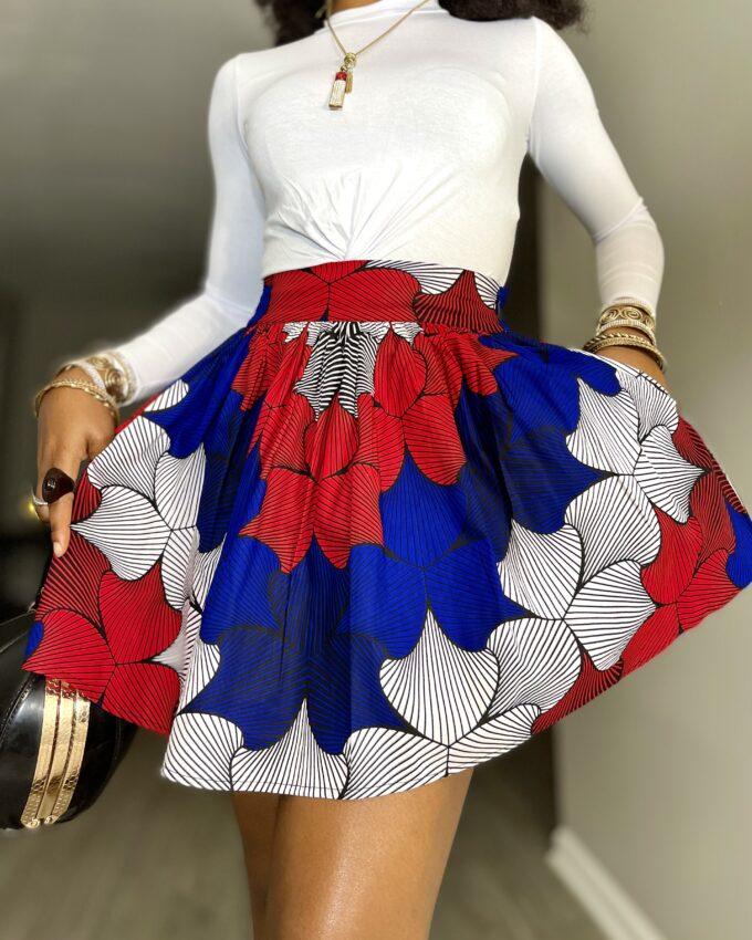 Shop BINTA ankaraShop BINTA ankara kente dashiki African women ladies wears clothes fashion mini skirt with pocket kente dashiki African clothes fashion mini skirt